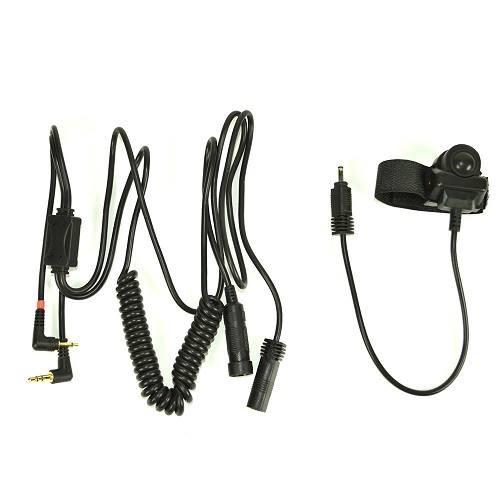 Cablu adaptor cu buton PTT Midland/Albrecht BHS300N cu 2 pini pentru casti moto Cod 41940/C797.02