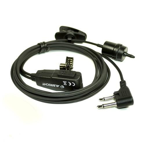 Casti cu tub acustic si microfon cu 2 pini Albrecht AE 31 CL2 Cod 41999