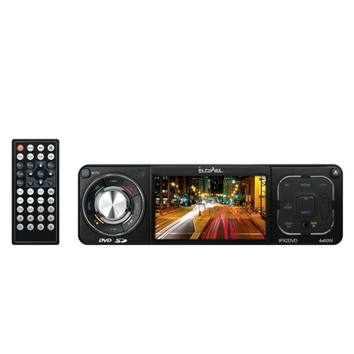 DVD player auto 1 DIN In phAase IPX2, cu port USB, SD card si Aux-in