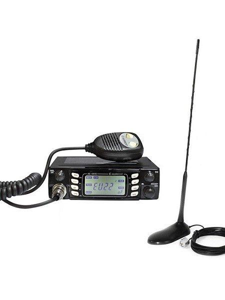 Kit statie radio auto CB Albrecht AE 6690 + Antena PNI Extra 45