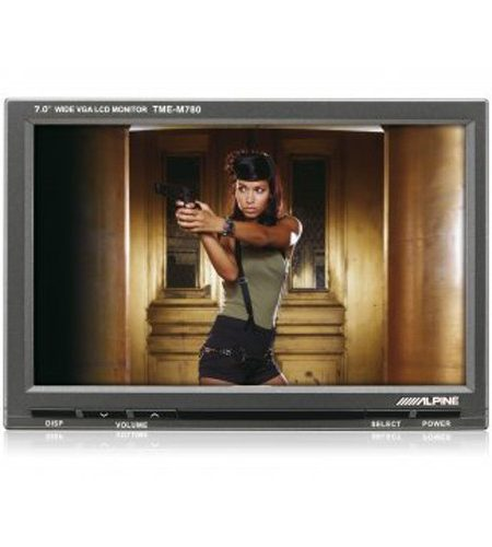 "Monitor cu prindere pe tetiera Alpine TME-M780, 7"", VGA"
