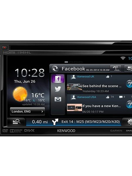 Multimedia player auto Kenwood DNN-6250DAB, 2DIN, USB, AUX, SD, WiFi, Bluetooth, 4x50W RMS, Touchscreen, ecran 6.1""