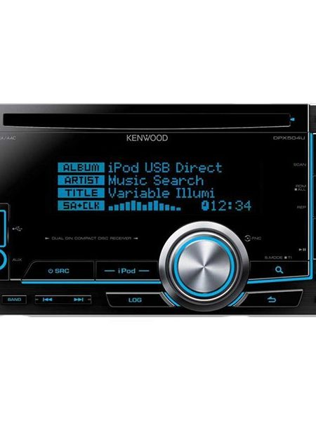 Multimedia player auto Kenwood DPX-504U, 2DIN, USB, AUX, Bluetooth, CD, iPod/iPhone, 4x50W RMS