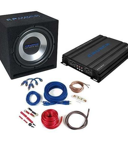 Pachet bass Crunch CBP1000: Subwoofer GPX 350+Amplificator GPX 1000.4+ Kit instalare GPX 10WK