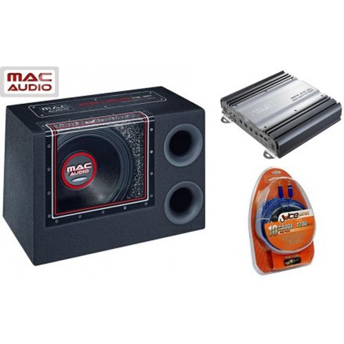 Pachet subwoofer Mac Audio Bass Leader Bandpass Pack, 300 W RMS