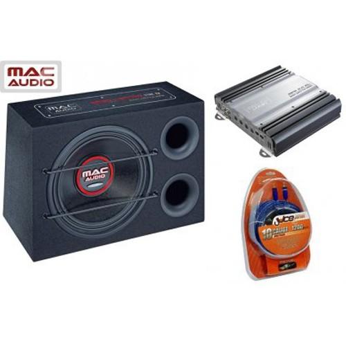 Pachet subwoofer Mac Audio Bass Leader Reflex Pack, 300 W RMS