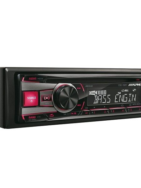 Player auto Alpine CDE-192R, 4 x 50W , USB, Ipod/Iphone, CD, Culoare Rosu/Verde