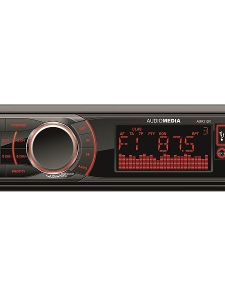 Player auto Audiomedia AMR 312R, 4x40 w, FM ,SD,USB, Fata detasabila