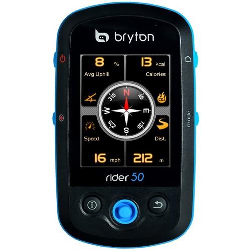 Sistem de navigatie pentru bicicleta Bryton Rider 50 HR, monitor cardiac, harta Full Europe [BryR50HR]