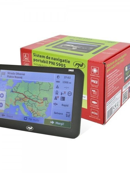 Sistem de navigatie portabil PNI S905 ecran 5 inch, 800 MHz, 128M DDR3,harta inclusa iGO Primo Full Europe