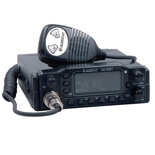 Statie radio auto CB Albrecht AE 6891 Cod 12691 cu panou detasabil si ASQ