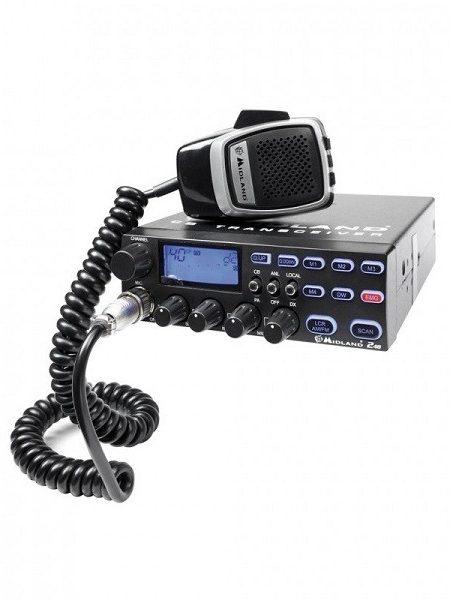 Statie radio auto CB Midland 248 cu filtru de zgomot , Cod C879