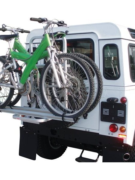 Suport auto pentru 2 biciclete pentru 4x4 Mazzini Fabbri Gringo Bici, prindere pe roata de rezerva