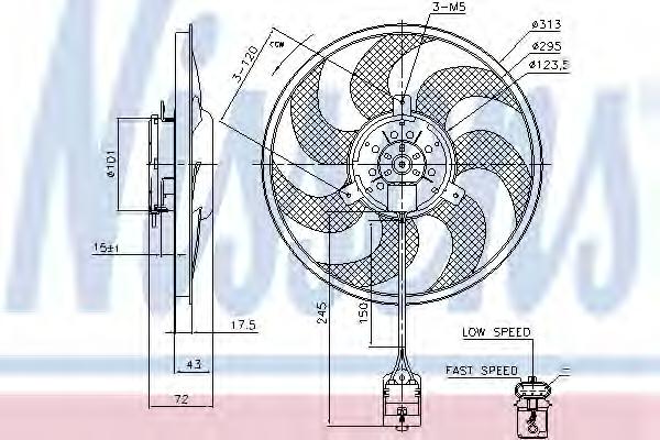 Ventilator radiator NISSENS 85754