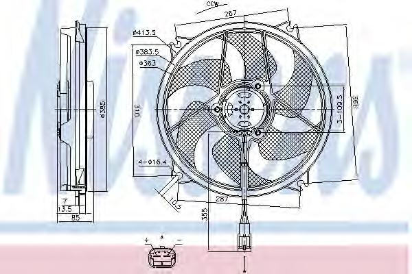 Ventilator radiator NISSENS 85790