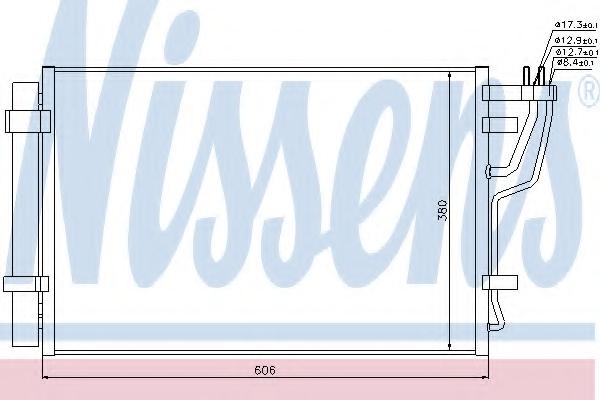 Condensator climatizare NISSENS 94981