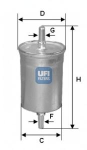 Filtru combustibil UFI 31.718.00
