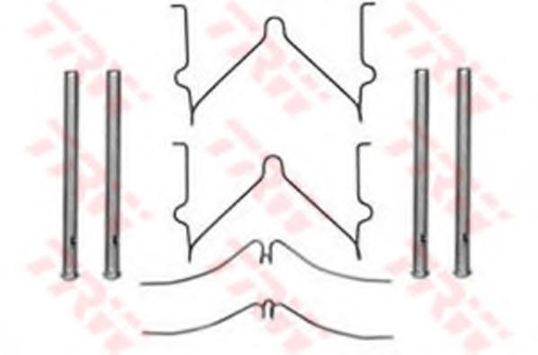 Set accesorii placute frana TRW PFK288