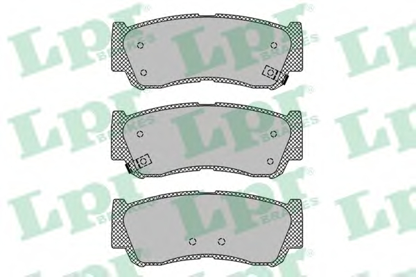 Set placute frana LPR 05P1417