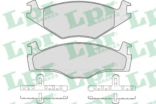 Set placute frana LPR 05P225
