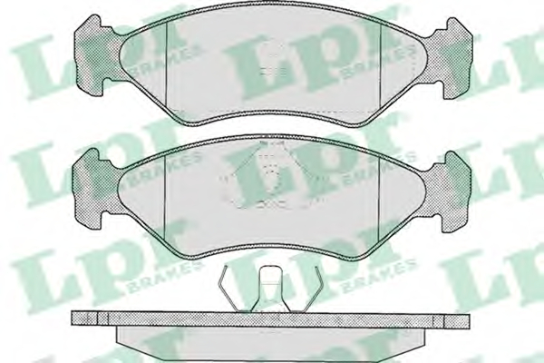 Set placute frana LPR 05P295