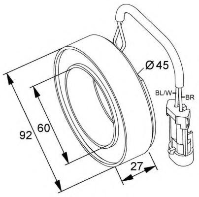 Bobina ambreiaj magnetic compresor NRF 38420