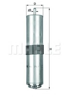 Filtru combustibil MAHLE ORIGINAL KL 763D
