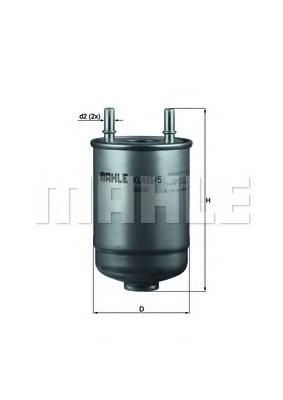 Filtru combustibil MAHLE ORIGINAL KL 485/5D