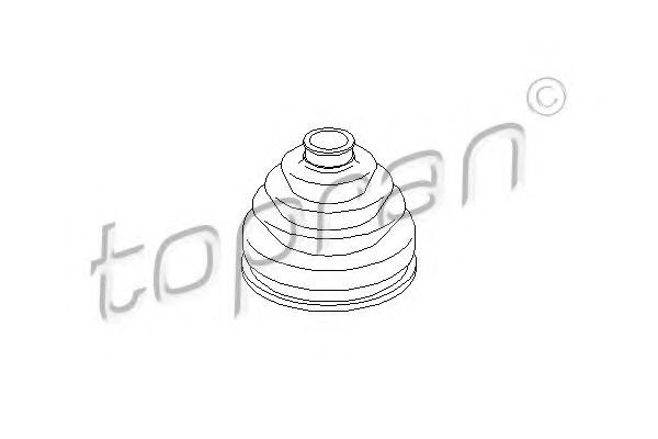 Burduf cauciuc articulatie planetara TOPRAN 104 059