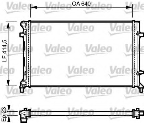 Radiator racire motor VALEO 734332