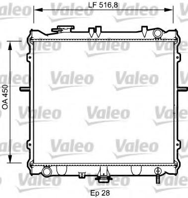 Radiator racire motor VALEO 734788