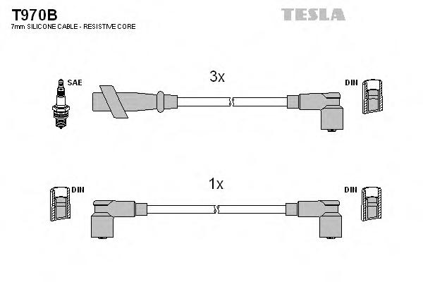 Set cablaj aprindere TESLA T970B