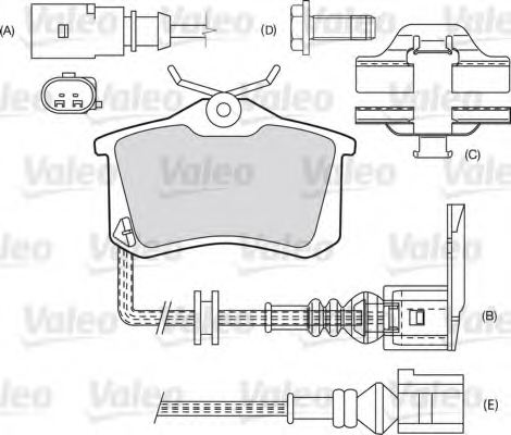 Set placute frana VALEO 598463