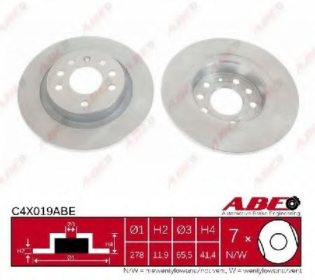 Disc frana ABE C4X019ABE