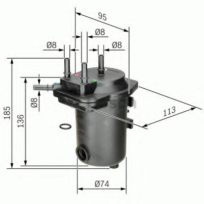 Filtru combustibil BOSCH 0 450 907 009