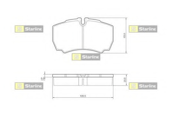 Set placute frana STARLINE BD S432