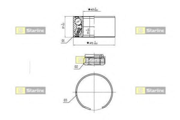 Set rulment roata STARLINE LO 03596