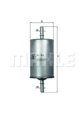 Filtru combustibil KNECHT KL 84
