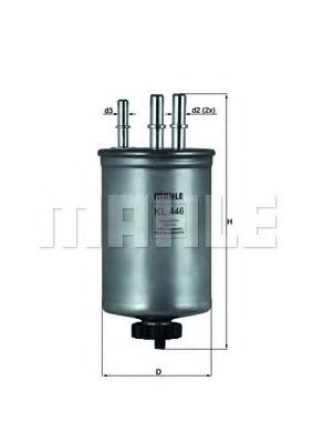 Filtru combustibil KNECHT KL 446