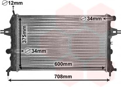 Radiator racire motor VAN WEZEL 37002296