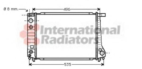 Radiator racire motor VAN WEZEL 06002087