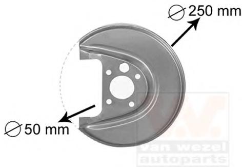 Protectie stropire disc frana VAN WEZEL 5888374