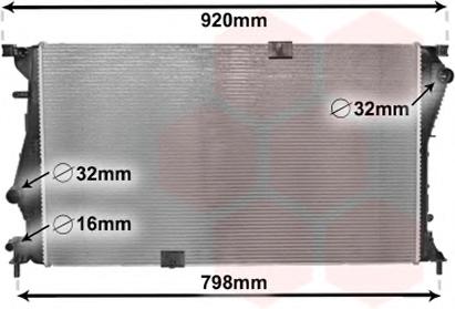 Radiator racire motor VAN WEZEL 43002601
