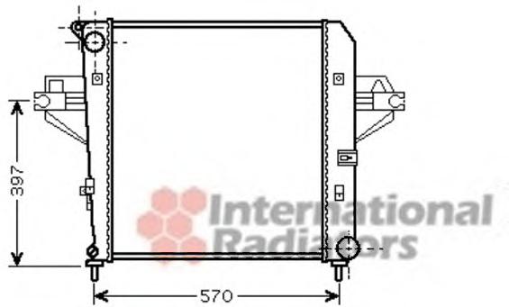 Radiator racire motor VAN WEZEL 21002046