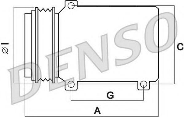 Compresor climatizare DENSO DCP02040