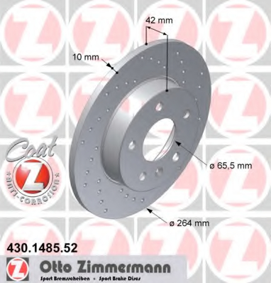 Disc frana ZIMMERMANN 430.1485.52