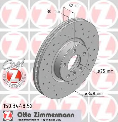 Disc frana ZIMMERMANN 150.3448.52