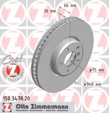 Disc frana ZIMMERMANN 150.3478.20