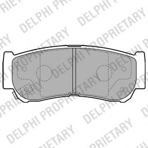 Set placute frana DELPHI LP2049