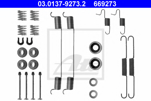 Set accesorii sabot de frana ATE 03.0137-9273.2